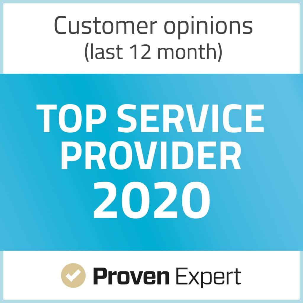 Proven Expert Top Service Provider 2020