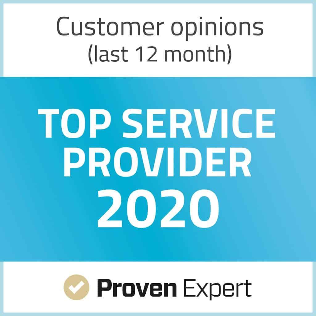 Proven Expert Top Service Provider 2020